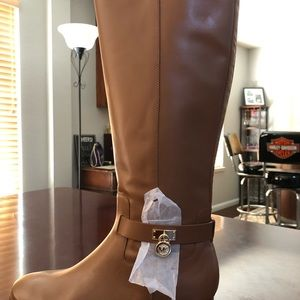 Michael Kors NEW Ryan Boot Leather/Luggage 9M